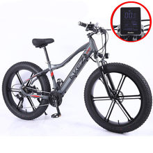 26*4.0inch Fat Tire Electric Bicycle Aluminum Mountain Bike 48V10AH 350W Powerful bike 27speed /Snow/Beach Cross Country Bike
