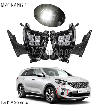 LED Fog Lights Lamp Daytime Running Light for KIA Sorento 2018 2019 2020 Front Bumper prime FogLight 2Pcs DRL  Day Light цена 2017