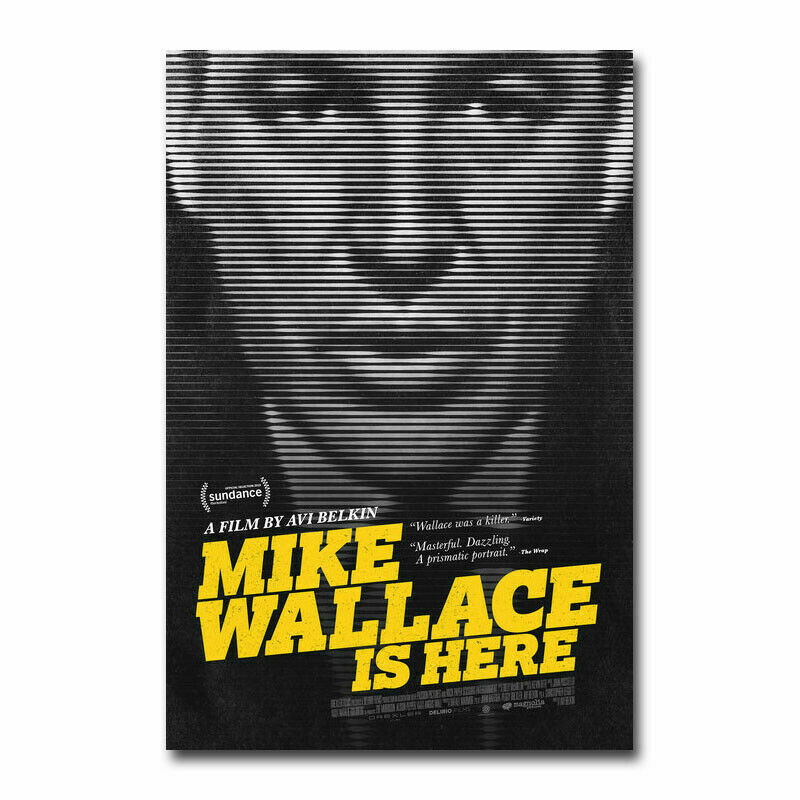 Mike Wallace Is Here Documentary Movie Silk Fabric Wall Poster Art Decor Sticker Bright image