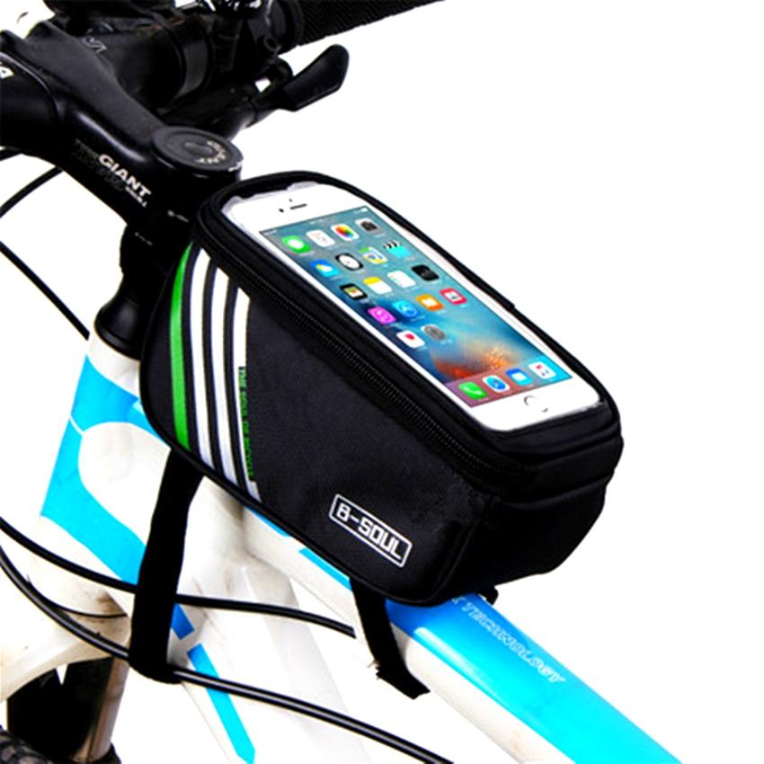 Vélo vélo avant cadre sac vélo guidon sac écran tactile téléphone portable poche haut vélo Tube sac VTT accessoires