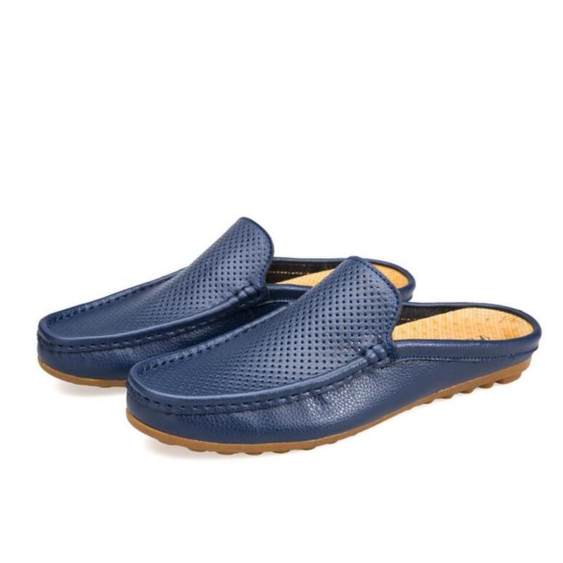 Мужские туфли из натуральной кожи на плоской подошве