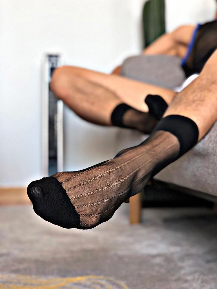 Tube Socks Dress Socks Gifts For Men Sheer Socks Exotic Formal Wear Socks Suit Men Sexy HornyTransparent Business TNT Socks