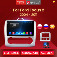 Junsun V1 Android 10.0 Ai Voice Control Voor Ford Focus 2 Mk2 2004-2011 Auto Radio Multimedia Video Player navigatie 2 Din Dvd
