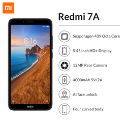 """Wersja globalna Xiaomi Redmi 7A 2GB 32GB Smartphone 5.45 """"HD Snapdargon 439 octa core 4000mAh bateria długi czas czuwania telefon komórkowy 2"""