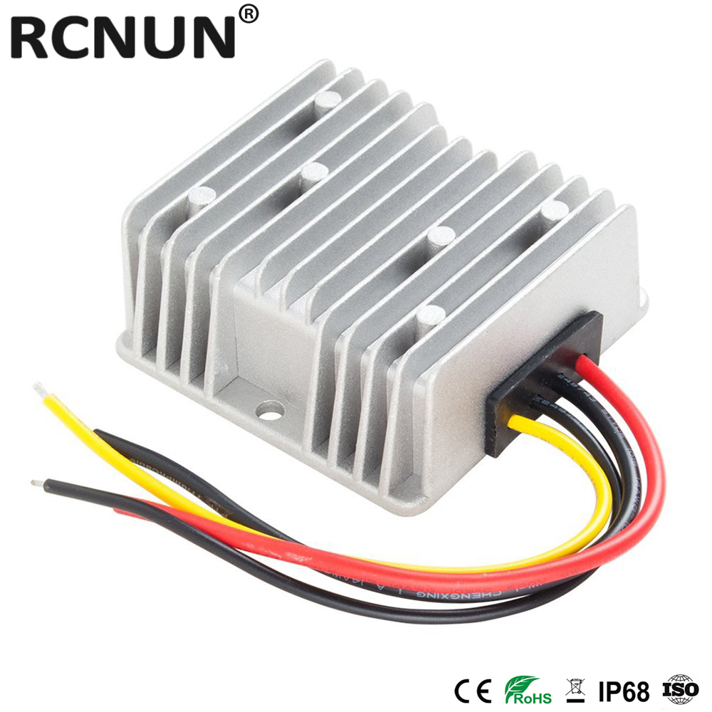 LEVEL Aluminum Shell Power Boost Transformer Voltage Converter Regulator DC 12V Step-up to DC 24V 3A 5A 8A 10A 12A