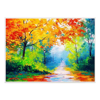 100% Hand Painted Abstract Colorful landscape Paintings On Canvas Wall Art Adornment Pictures Painting For Live Room Home Decor