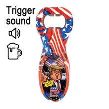 Donald trump bandeira americana abridor de garrafa falando frases som novidade diversão