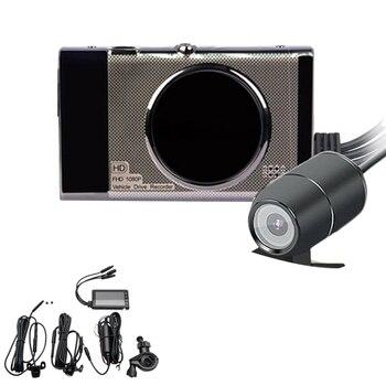 3 pouces moto Dvr Sprint caméra Full Hd 1080 P/720 P Lcd double caméra avant et arrière rétroviseur étanche caméra Gps g-sensor