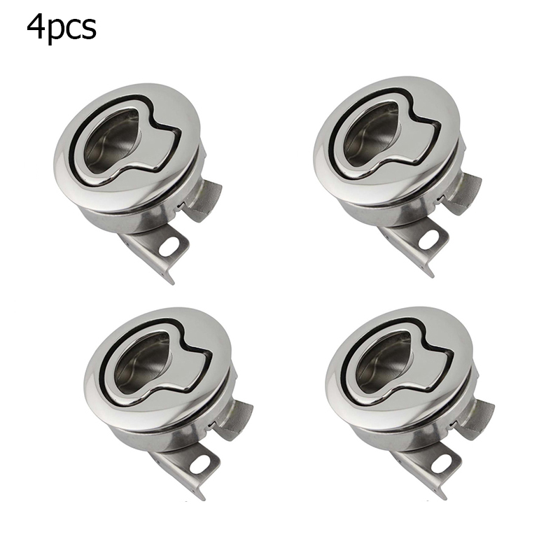 4PCS Marine Lock Lift Slam Latch Hardware Stainless Steel Flush Mount <font><b>Hatch</b></font> Flush Pull Latch for RV Yacht <font><b>Boat</b></font> Deck <font><b>Hatch</b></font> Door image