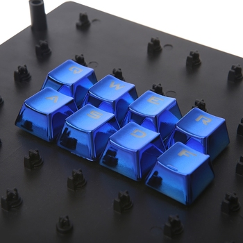 Metal Coating PBT DIY 12 Keycaps for Mechanical Keyboard with keycap puller
