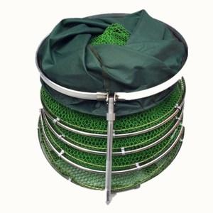 Image 2 - 2m/2.5m/3m/4m Fishing Net With Bag Quick drying Glued Fishing Trap Nets Foldable Crayfish Traps Carp Fishing Accessories B303