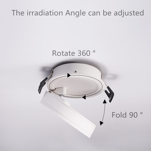 Image 5 - 회전 360 ° 접는 recessed 라운드 cob led downlights 7 w/12 w led 천장 스포트 라이트 배경 그림 램프 실내 lig