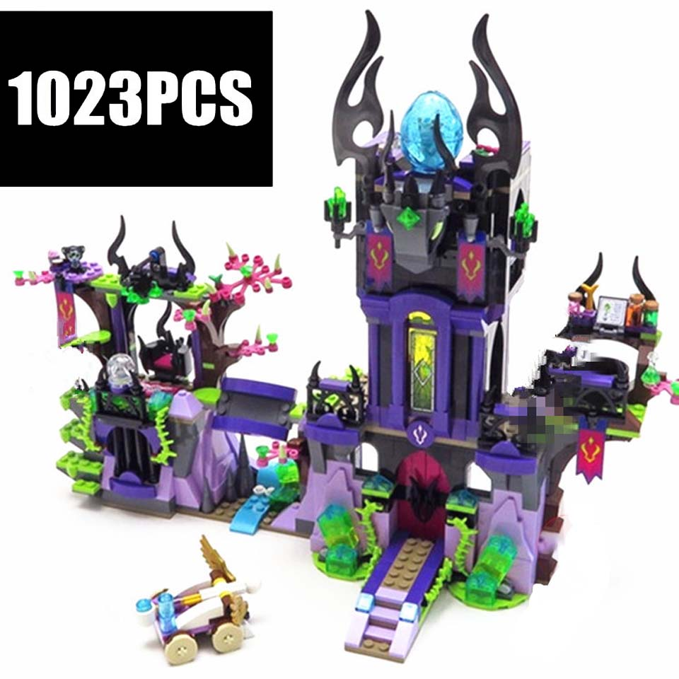 <font><b>Legoinglys</b></font> New Ragana's Magic Shadow Castle Fit Elves Fairy <font><b>41180</b></font> Friend Figures Model Building Blocks Bricks Toy Kid image