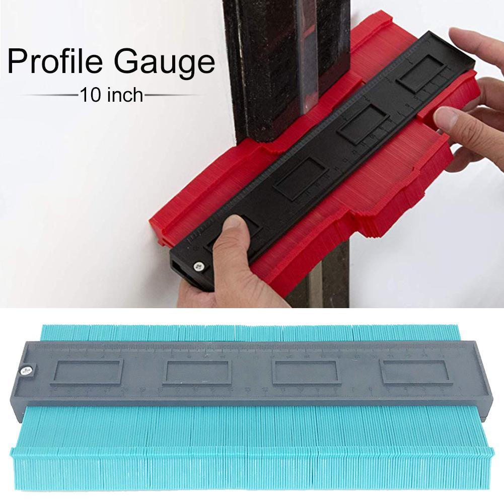 10Inch Plastic Irregular Profile Gauge Measure Ruler Contour Duplicator For Precise Measurement Tiles Laminate Wood Marking Tool|Gauges| |  - title=