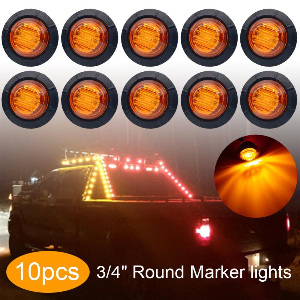 Gran calidad, 10 Uds., 12V, indicador lateral, luz LED para coche, camión, remolque, techo, iluminación de barco, luces interiores y exteriores, rojo, amarillo