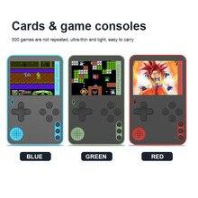 500 em 1 handheld console de jogo de cartas ultra-fino console de jogos de vídeo retro console ótimo presente para crianças adultos acessórios