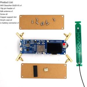 Image 5 - Dstike Wifi Deauther OLED V5 ESP8266 Ban Phát Triển Cho Pin 18650 Bảo Vệ Phân Cực Wiht Ốp Lưng Ăng Ten 4 Mb I1 003