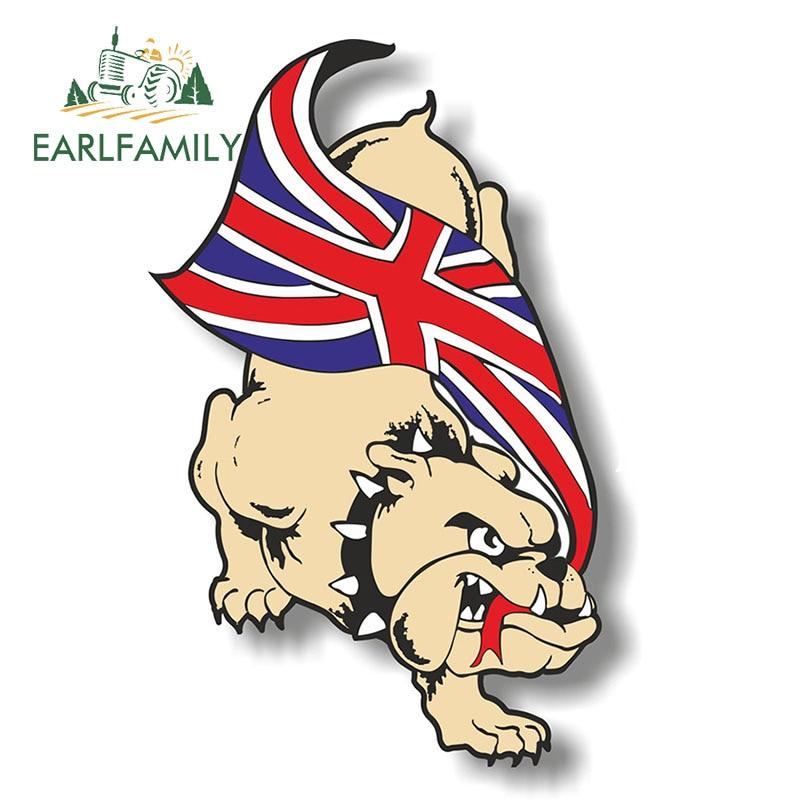 "Pair of 6/"" British Bulldog /& Union Jack stickers"