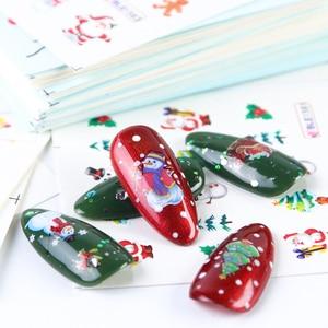 Image 5 - Juego de calcomanías de Navidad para manicura, juego de 44 láminas para uñas, diseños de invierno, CHNJ004