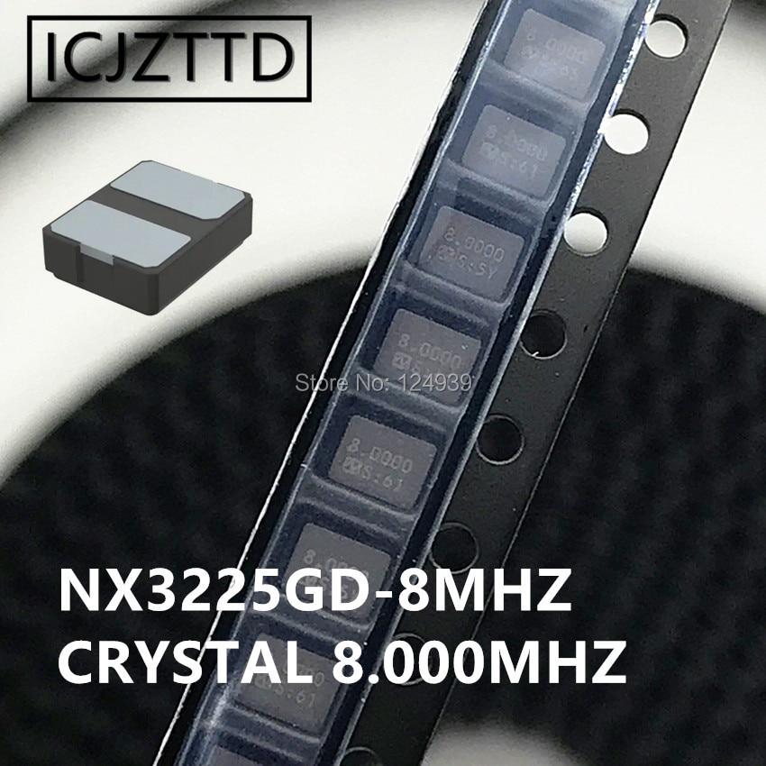 10 шт. 8,000 NX3225GD NX3225 3225 8M 8 МГц 8,000 SMD 3,2x2,5 Американская классификация проводов 2р 3225 3,2 мм * 2,5 мм с украшением в виде кристаллов рез новый оригиналь...