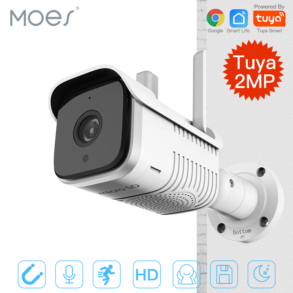 Audio-Camera Tuya Wifi Smart Network Outdoor Waterproof IP65 Two-Way 1080P HD Night-Vision title=