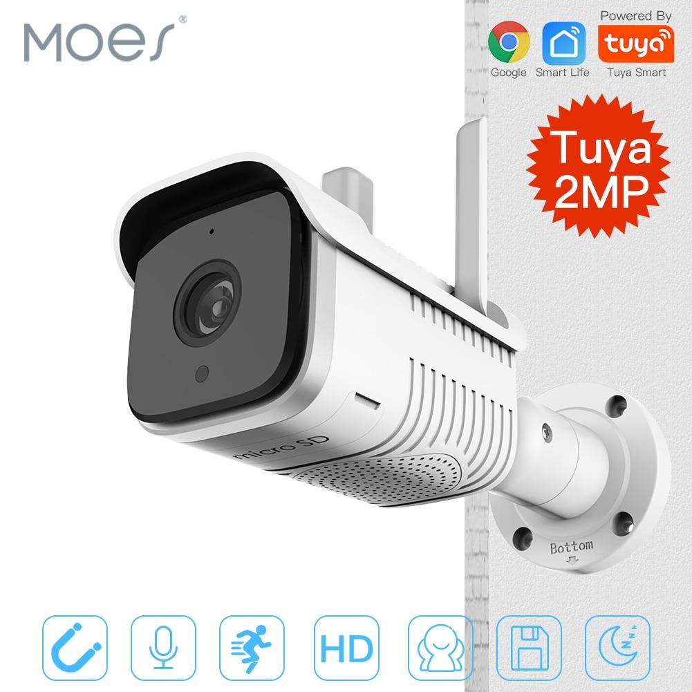 Tuya Smart Outdoor IP65 Waterproof WiFi  Two-Way Audio Camera HD 1080P Network Night Vision IP Camera