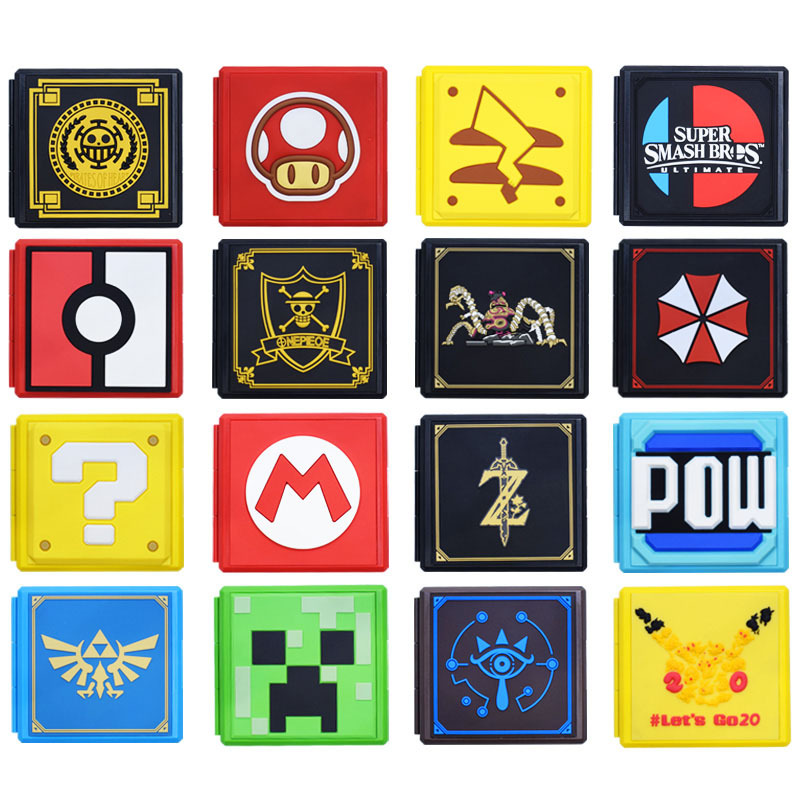 2020 17colors 12in1 For NS Game Card Case Storage Box For Nintend Switch Game Memory SD Card Holder Carry Cartridge Box