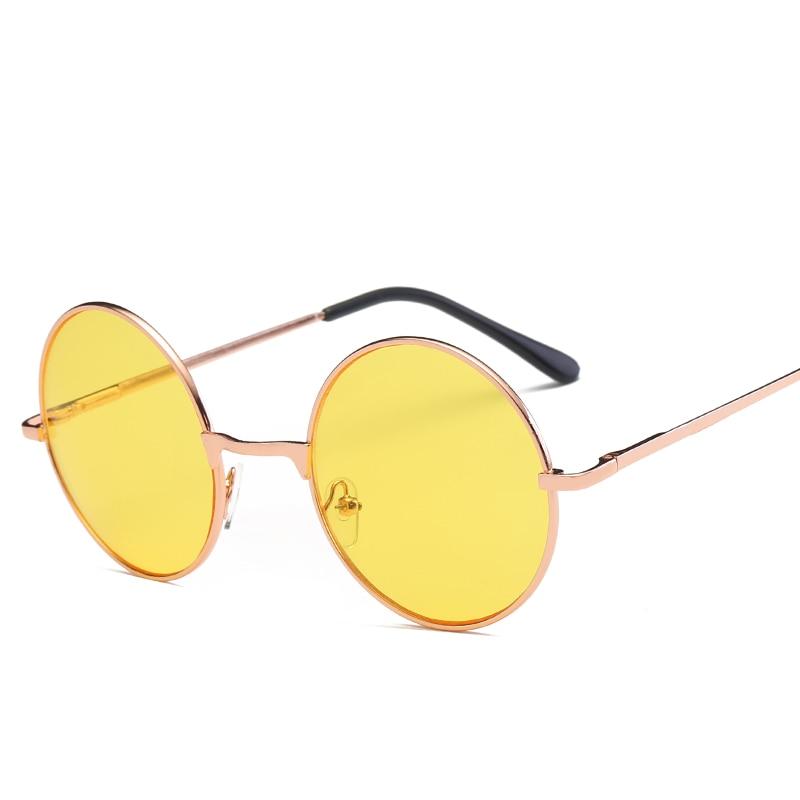 Sunglasses Men Retro Prince Mirror Men's Glasses Color Marine Lenses Sun Glasses Round Sunglass Fluorescent Tide Sunglases