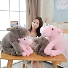 Nice 40/60cm Soft Lovely Rhinoceros Plush Pillow Kawaii Stuffed Animal Plush Toys for Children Baby Appease Doll Kids Girls Gift  - buy with discount