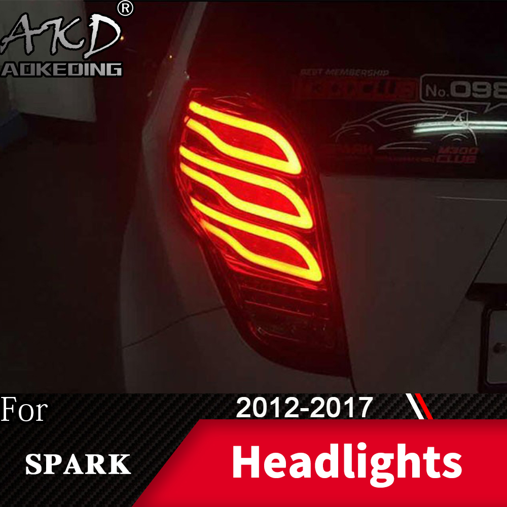 Tail Lamp For Car Chevrolet Spark 2012-2017 New Spark LED Tail Lights Fog Lights Day Running Light DRL Tuning Cars Accessories