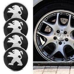 4Pcs Metal Emblema Da Roda de Carro Hub Cap Centro Adesivos Para Peugeot 407 206 207 2008 208 5008 308 3008 508 307 107 4008 408 607 406