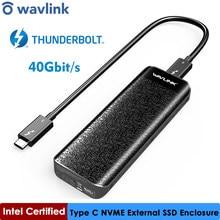 Intel thunderbolt certificado™Unidade de estado sólido, 3 ssd externo usb tipo-c 40gbps ssd para microsoft windows & mac os wavlink