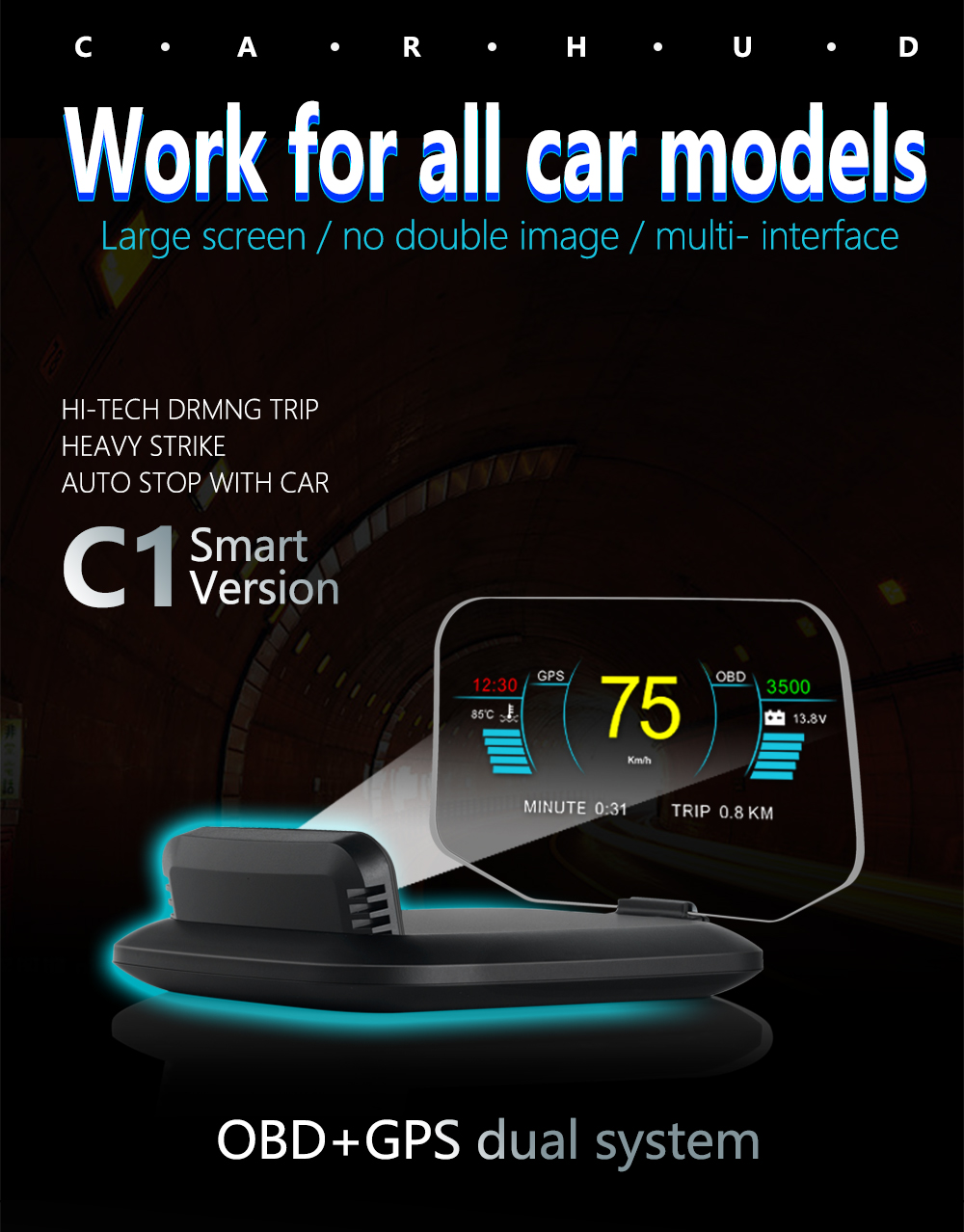 C1 HUD Mirror Car Head Up Display (1)