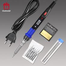 Outmotd Electric Soldering Iron Kit Adjustable Temperature LCD Digital Display Welding Solder Tools 220V 110V 80W
