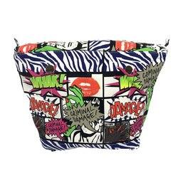 1 قطعة الداخلية بطانة الداخلية سستة جيب بطانة إدراج للنساء حقائب كبيرة الكلاسيكية صغيرة ل Obag