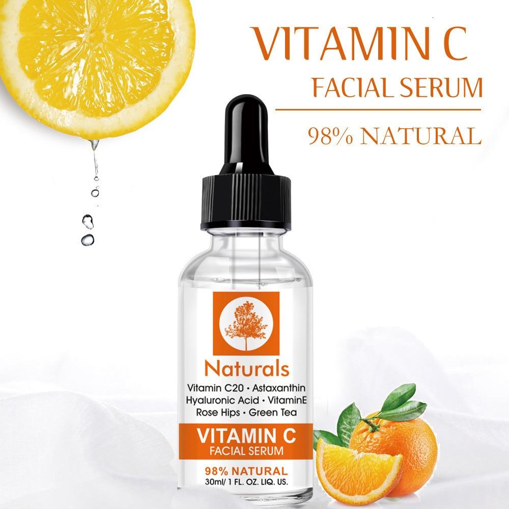 MO TULIP Vitamin C Whitening Serum Hyaluronic Acid Face Cream & Vitamin E - Organic Anti-Aging Serum for Face Eye Treatment