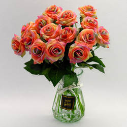 Цветок также цветок напрямую от производителя продавая искусственные розы современные украшения дома одной бутылки Handfeel увлажняющее