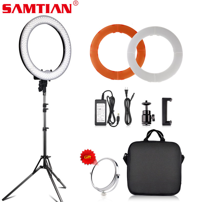 Ring light 18-Inch Led with 180 Degree Rotating Lamp Head Color Temperature Adjustable for Selfie Video YouTube