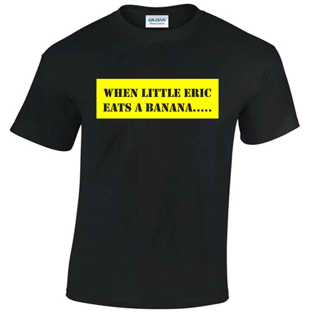 Bananaman Tシャツメンズおかしいレトロ漫画テレビ番組時少しエリック · 食べるバナナ