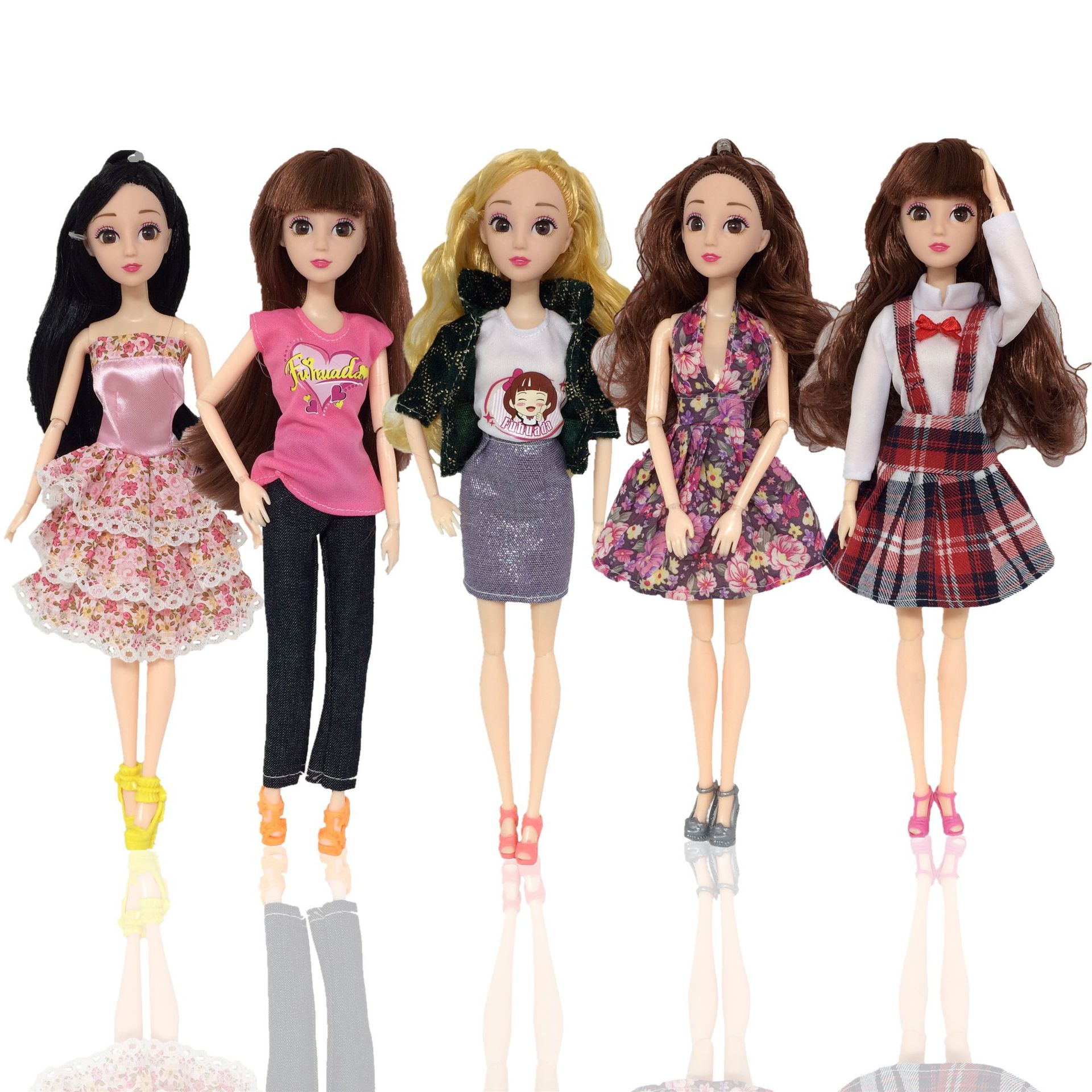 30cm BJD Doll DIY Dolls Clothes 1/6 Girls Body Skirt Coat 3D Eyes Joints Moveable Fashion Doll Accessories Toys For Girls Gift
