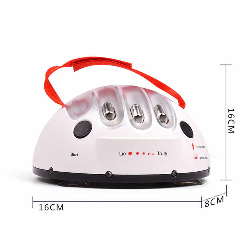 Miniatuur Elektrische Schok Leugendetector Grappige Verstelbare Volwassen Lie Detector Liar Waarheid Party Game Machine Gift Speelgoed
