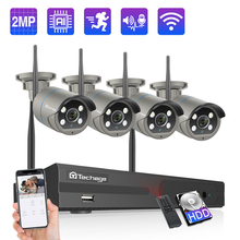 Techage 8CH 1080P 무선 카메라 NVR 시스템 2MP Wifi IP 카메라 양방향 오디오 사운드 비디오 방수 보안 감시 키트