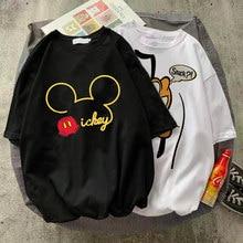 Disney Pluto Mickey Kleidung schöne frauen Cartoon Print Kurzarm Koreanische Modus Weibliche Schwarz und Wei grafik T-shirt Zu