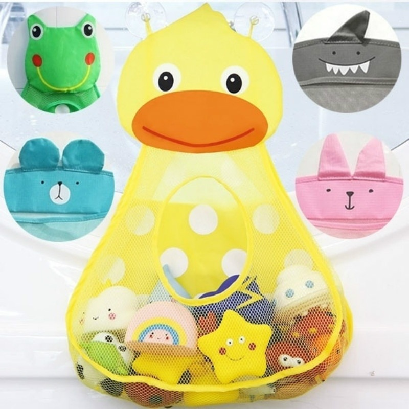 Baby Bath Toys Duck Showers Storage Bag Large Mesh Beach Bath Portab Foldable Bag Baby Shower Games Reborn Baby Doll Water Games