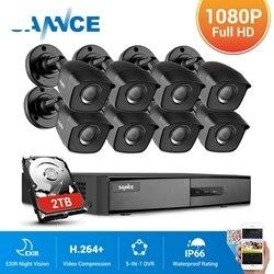 8 каналов 1080N DVR система видеонаблюдения 4/8 шт. 1080P 2.0MP камеры безопасности IR outdoor IP66 комплект видеонаблюдения с датчиком движения