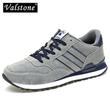 Valstone Mens Spring Genuine Leather Sneakers 2020 waterproof moccasins Antiskid Rubber walking shoes comfortable hombres grey