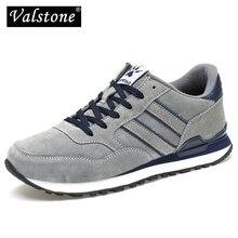 Valstone erkek bahar hakiki deri Sneakers 2020 su geçirmez moccasins Antiskid kauçuk yürüyüş ayakkabısı rahat hombres gri