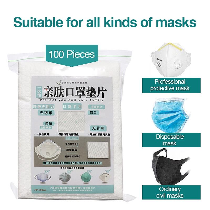 100pcs Disposable Filter Pad For Kids Adult Face Mask Respirator  Virus Masks Filter  Suitable For N95 KN95 KF94 Ffp3 2 1 Masks