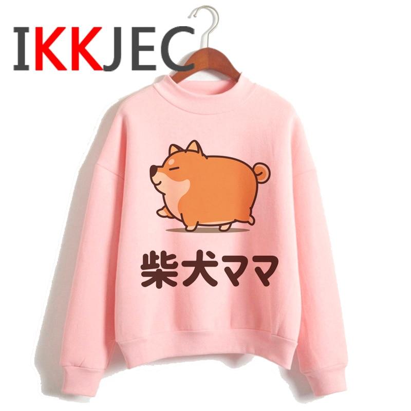 Shiba Inu Kawaii Dogs Funny Cartoon Grunge Aesthetic Hoodies Women Ladies Harajuku Cute Anime Sweatshirt Streetwear Hodoy Female 26
