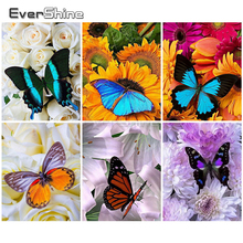 Painting-By-Numbers Drawing-Canvas Numbers-Animals Hand-Painted Home-Decor Butterfly-Coloring